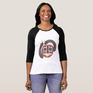 Camiseta O t-shirt das mulheres do Sr. Bauble Nenhum Fundo