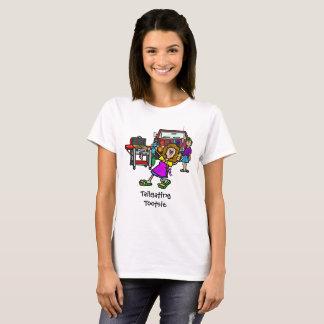 Camiseta O t-shirt das mulheres do Tootsie da utilização