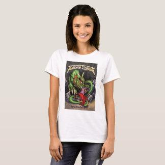 Camiseta O t-shirt das mulheres dos dragões e dos sonhos