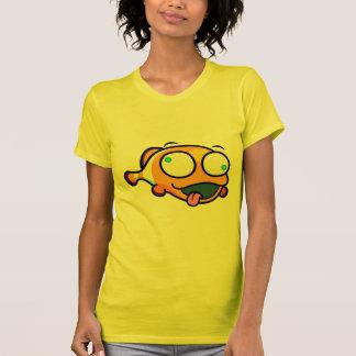 Camiseta O t-shirt das mulheres dos peixes do palhaço