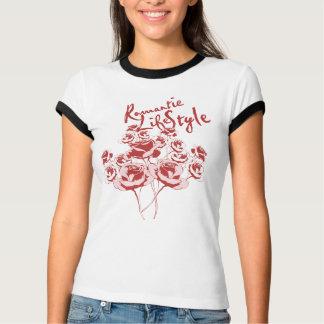 Camiseta O t-shirt das mulheres dos rosas