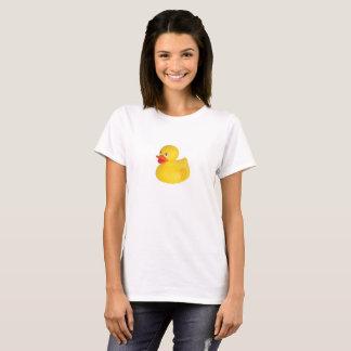 Camiseta O t-shirt das mulheres Ducky de borracha