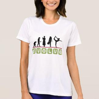 Camiseta O t-shirt das mulheres engraçadas da ioga
