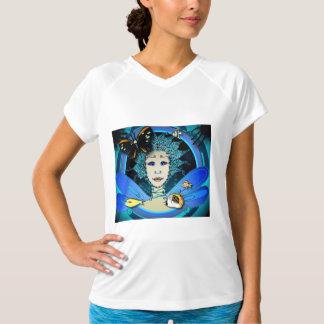Camiseta O t-shirt das mulheres - fada com borboleta &