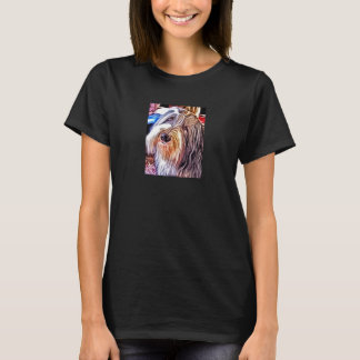 Camiseta O t-shirt das mulheres farpadas da pintura do
