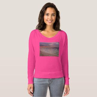 Camiseta O t-shirt das mulheres malva bonitas do impressão