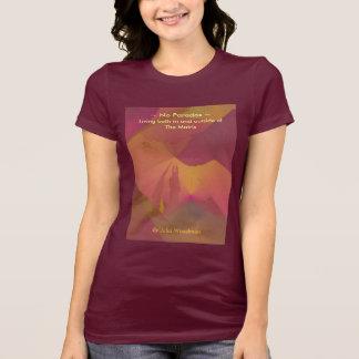 Camiseta O t-shirt das mulheres: Nenhuma arte do por do sol