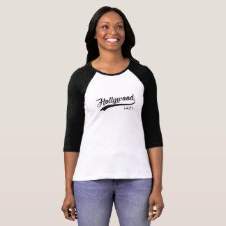 Camiseta O t-shirt das mulheres preguiçosas do vintage de