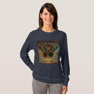 Camiseta O t-shirt das mulheres pretas por muito tempo