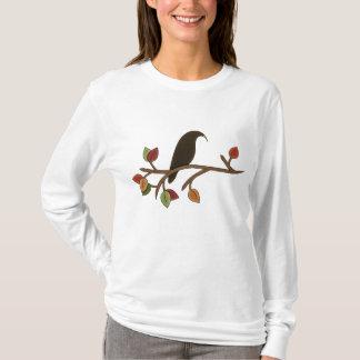 Camiseta O t-shirt das mulheres sazonais do corvo da queda