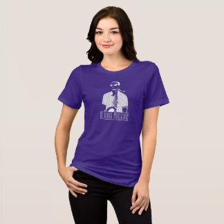 Camiseta O t-shirt das mulheres sérias do músico