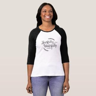 Camiseta O t-shirt das mulheres temìvel e maravilhosamente