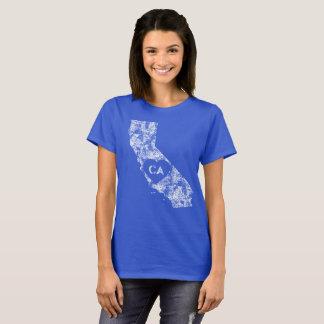 Camiseta O t-shirt das mulheres usadas do estado de