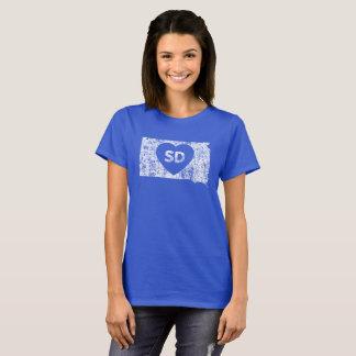 Camiseta O t-shirt das mulheres usadas do estado de South