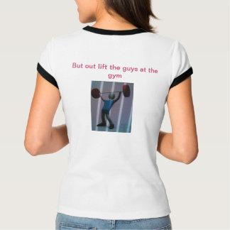 """Camiseta O t-shirt das senhoras com frase """" uma senhora"""