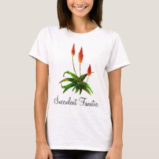 Camiseta O t-shirt das senhoras da aguarela do aloés