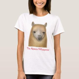 Camiseta O t-shirt das senhoras do Whisperer da alpaca