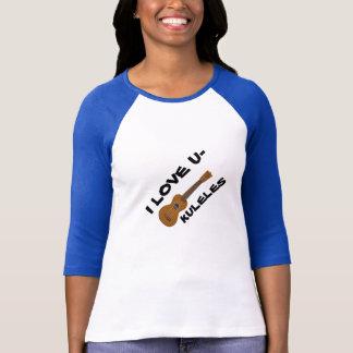 Camiseta O t-shirt das senhoras dos amantes do Ukulele