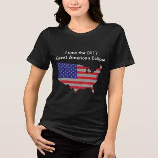 Camiseta O t-shirt de 2017 mulheres americanas do eclipse