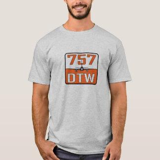 Camiseta O t-shirt de 757 homens de DTW