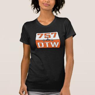Camiseta O t-shirt de 757 mulheres de DTW