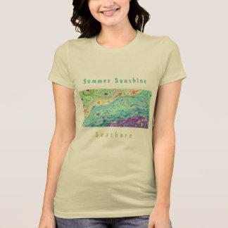 Camiseta O t-shirt de creme macio das mulheres: Arte/texto