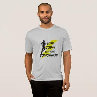 Camiseta O t-shirt de funcionamento dos homens: Hoje dorido