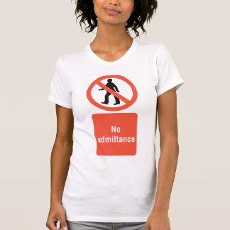 Camiseta O t-shirt de nenhumas mulheres do sinal da