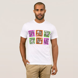 Camiseta O t-shirt de três espelhos