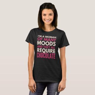 Camiseta O t-shirt do amante do chocolate