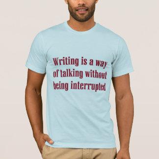 Camiseta O t-shirt do escritor