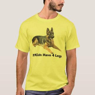 Camiseta O t-shirt do german shepherd meus miúdos tem 4 pés