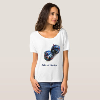 Camiseta O t-shirt do Knitter com as bolas do fio
