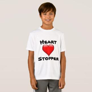 Camiseta O t-shirt do menino do bujão do coração
