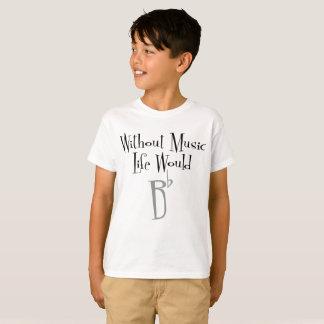 Camiseta O t-shirt do menino liso de B