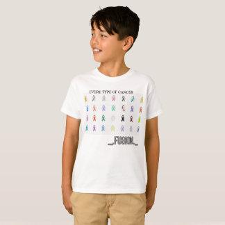 Camiseta O t-shirt do miúdo cada tipo de cancer