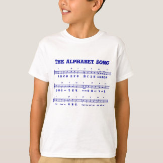 Camiseta O t-shirt do miúdo da canção de alfabeto (ABCD)