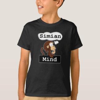 Camiseta O t-shirt do miúdo da mente do Simian
