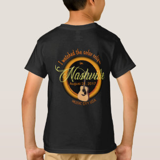 Camiseta O t-shirt do miúdo de Nashville do eclipse solar