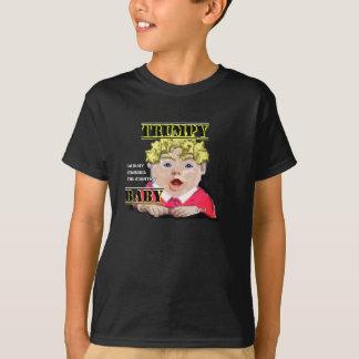 Camiseta O t-shirt do miúdo do bebê de Trumpy