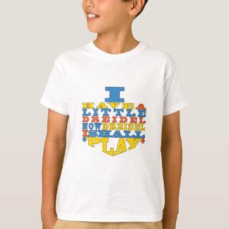 """Camiseta O t-shirt do miúdo do jogo de Hanukkah """"Dreidel"""""""