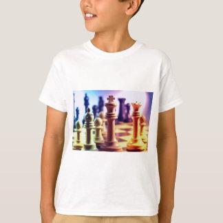 Camiseta O t-shirt do miúdo do jogo de xadrez