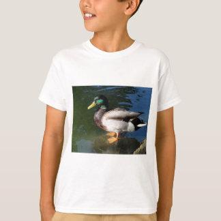 Camiseta O t-shirt do miúdo do pato do pato selvagem