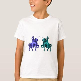 Camiseta O t-shirt do miúdo medieval dos cavalos