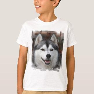 Camiseta O t-shirt do miúdo ronco do cão