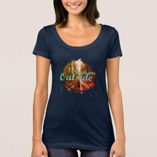 Camiseta O t-shirt do pescoço da colher do corredor