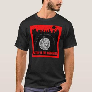 Camiseta O t-shirt do preto do tema das cidades caçoa