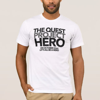 Camiseta O t-shirt do #PROJECTHERO da procura - homens