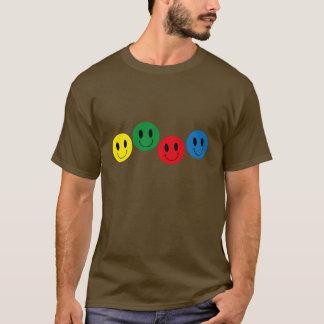 Camiseta O t-shirt do smiley ácido