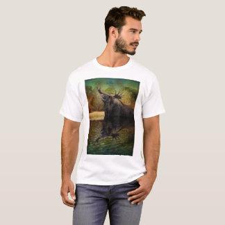 Camiseta O t-shirt dos homens americanos dos alces dos